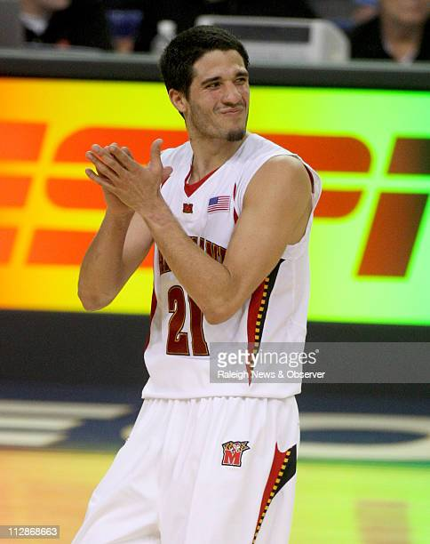 Maryland guard Greivis Vasquez is feeling it as the clock runs down and the Terps oust NC State from the ACC Tournament at the Georgia Dome in...