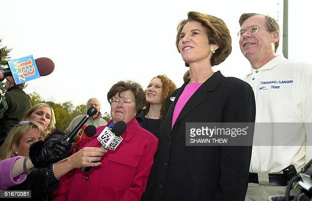 Maryland Lt Governor and Democratic Gubernatorial Candidate Kathleen Kennedy Townsend her husband David daughter Kate and US Senator Barbara Mikulski...
