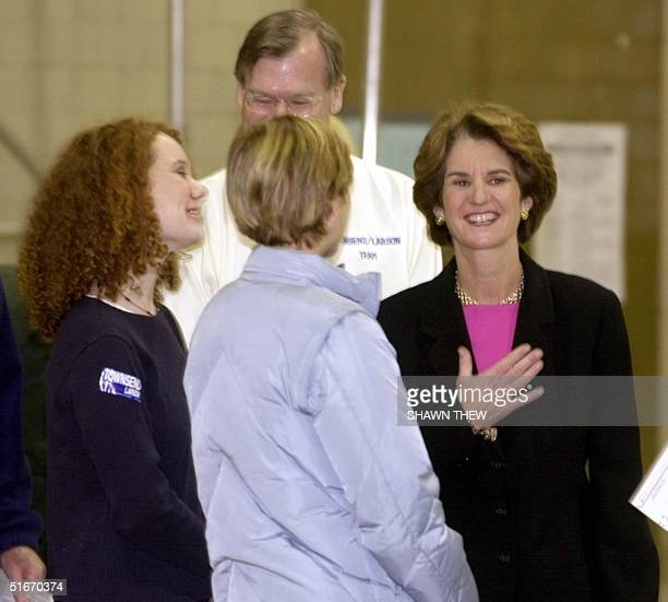 Maryland Lt Governor and Maryland Democratic Gubernatorial Candidate Kathleen Kennedy Townsend with her two daughters Kate and Maeve and husband...