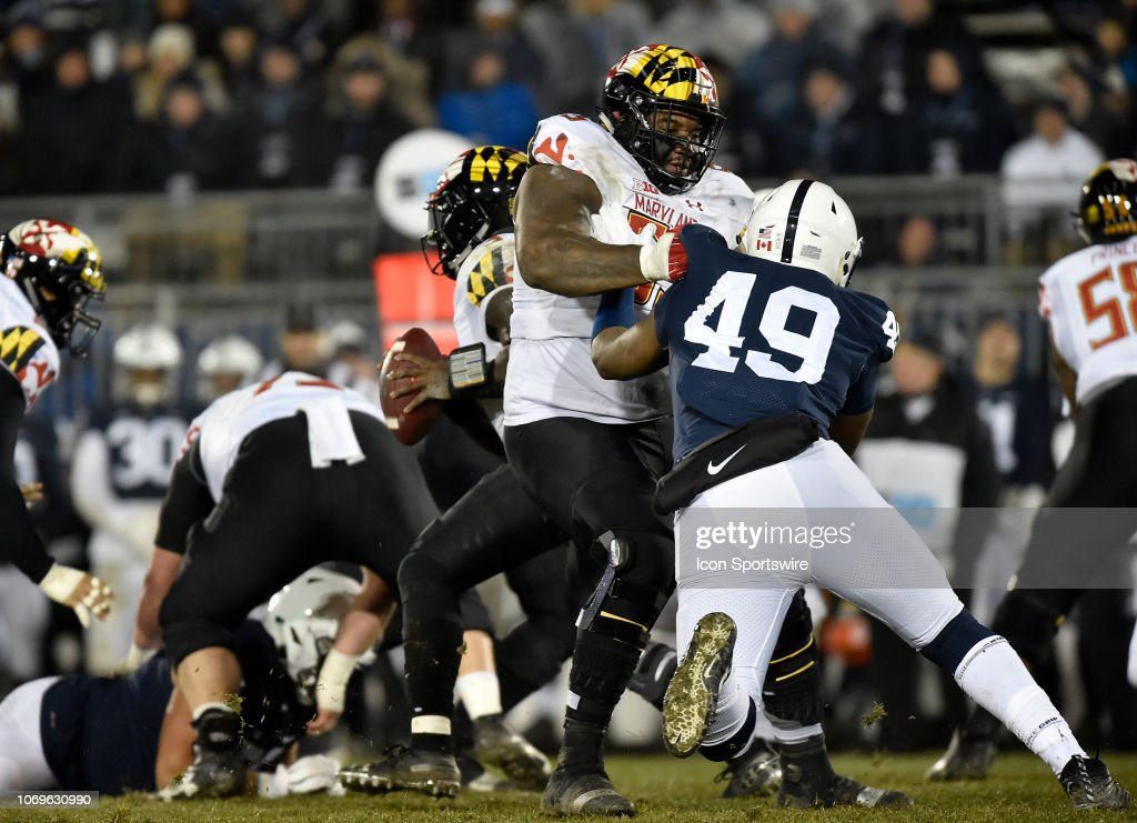 COLLEGE FOOTBALL: NOV 24 Maryland at Penn State : News Photo