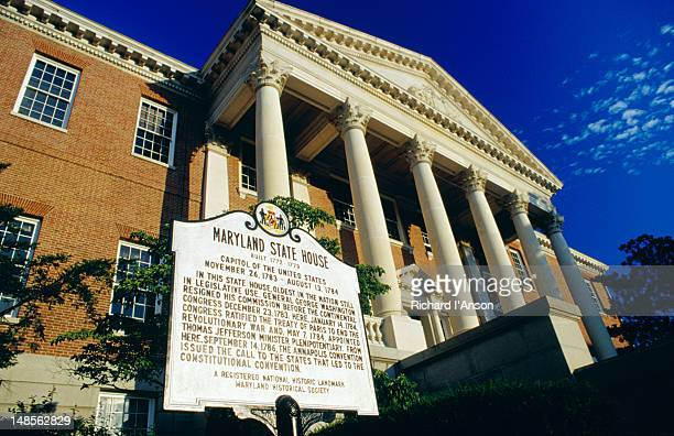 maryland state house. - maryland us state stock pictures, royalty-free photos & images