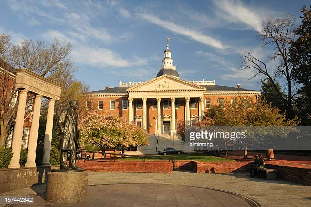 maryland state house - annapolis stock pictures, royalty-free photos & images
