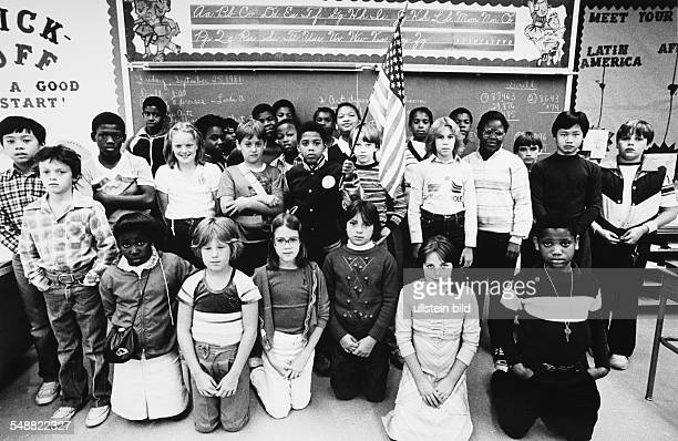 A characteristically mixed class at the Samuel Chase Elementary School 11white 2 Vietnamese and 15 black kids