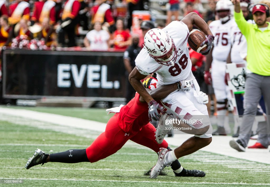 COLLEGE FOOTBALL: SEP 15 Temple at Maryland : News Photo