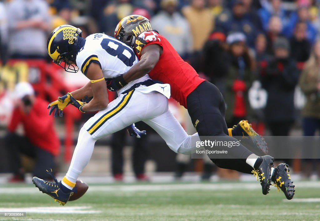 COLLEGE FOOTBALL: NOV 11 Michigan at Maryland : News Photo