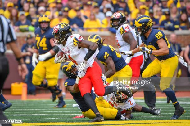 Maryland Terrapins defensive back Darnell Savage Jr returns an interception into Michigan territory during the Michigan Wolverines versus Maryland...