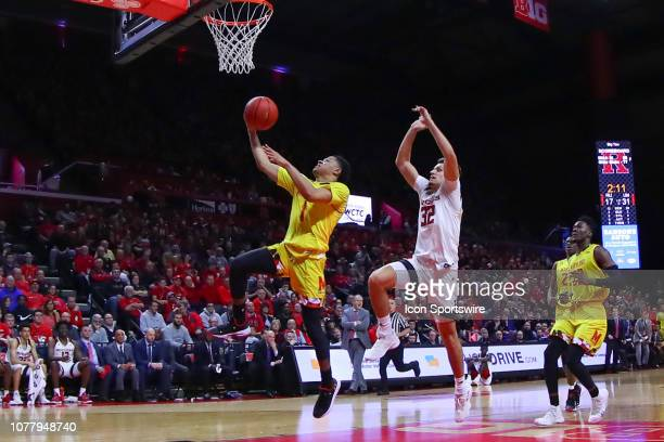 Maryland Terrapins guard Anthony Cowan Jr during the College Basketball game between the Rutgers Scarlet Knights and the Maryland Terrapins on...