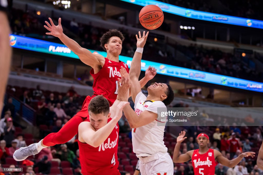 COLLEGE BASKETBALL: MAR 14 Big Ten Conference Tournament - Nebraska v Maryland : News Photo