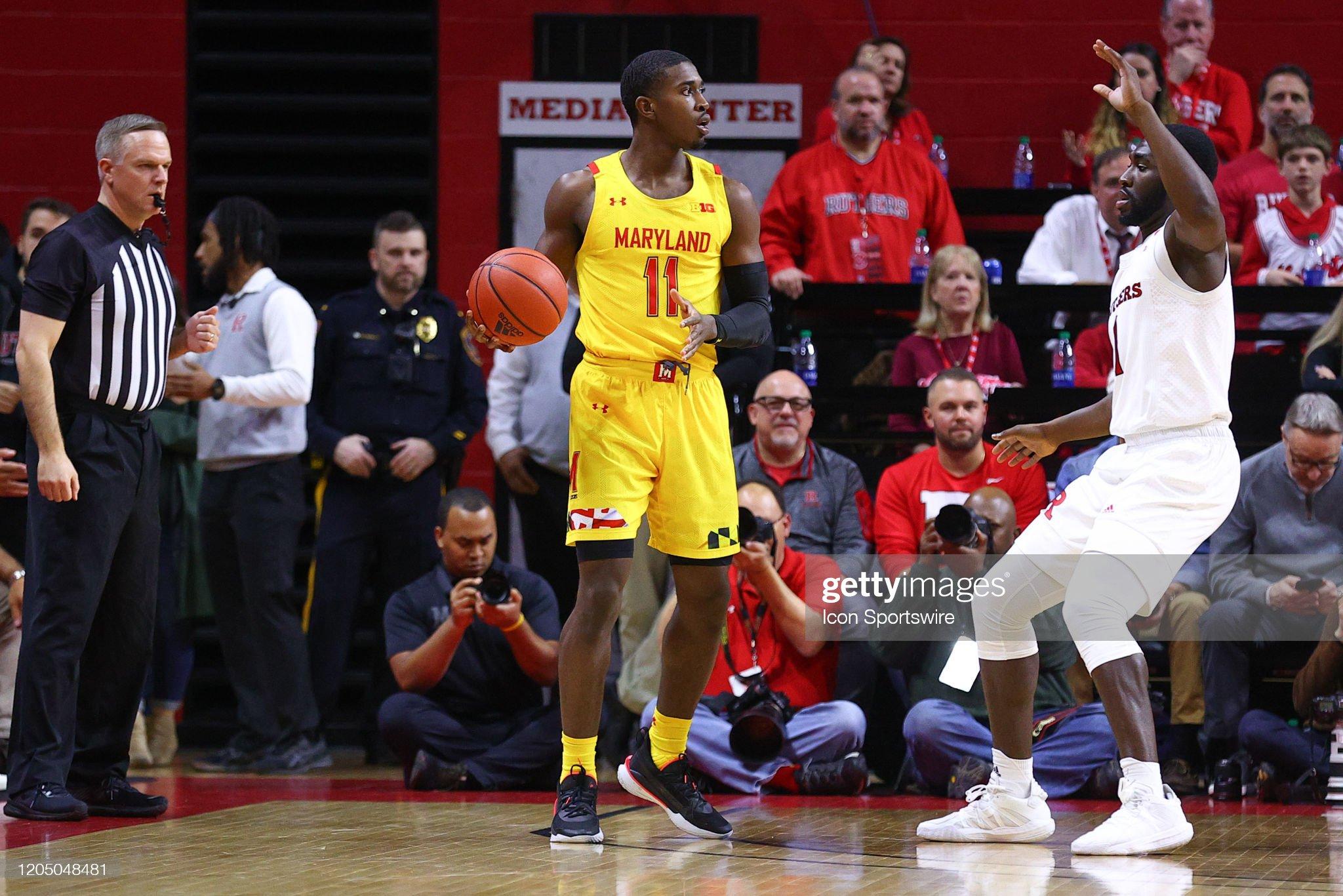 COLLEGE BASKETBALL: MAR 03 Maryland at Rutgers : Nachrichtenfoto