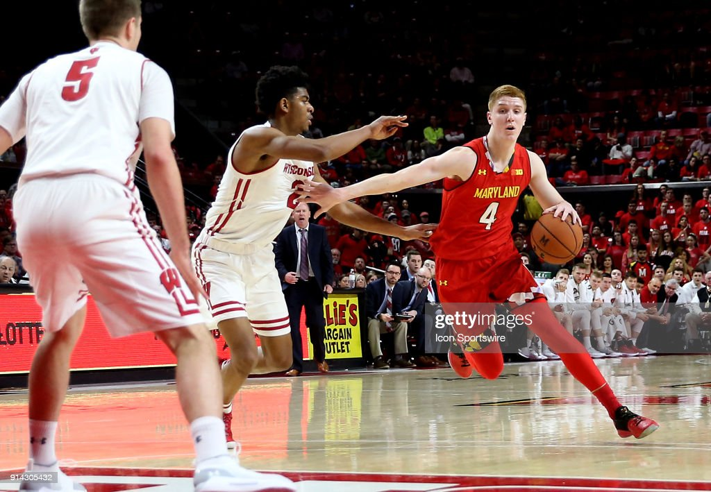 COLLEGE BASKETBALL: FEB 04 Wisconsin at Maryland : News Photo