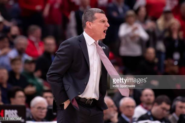 Maryland Terrapins head coach Mark Turgeon reacts during a Big Ten Tournament game between the Nebraska Cornhuskers and the Maryland Terrapins on...