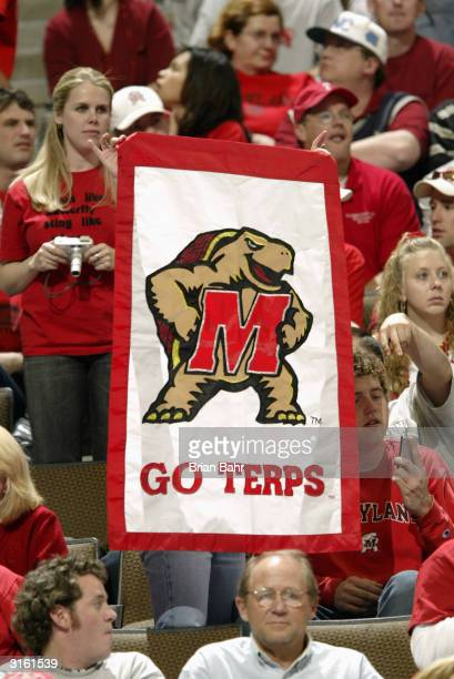 Maryland Terrapins show their support for their team in the second round game of the NCAA Division I Men's Basketball Tournament against the Syracuse...
