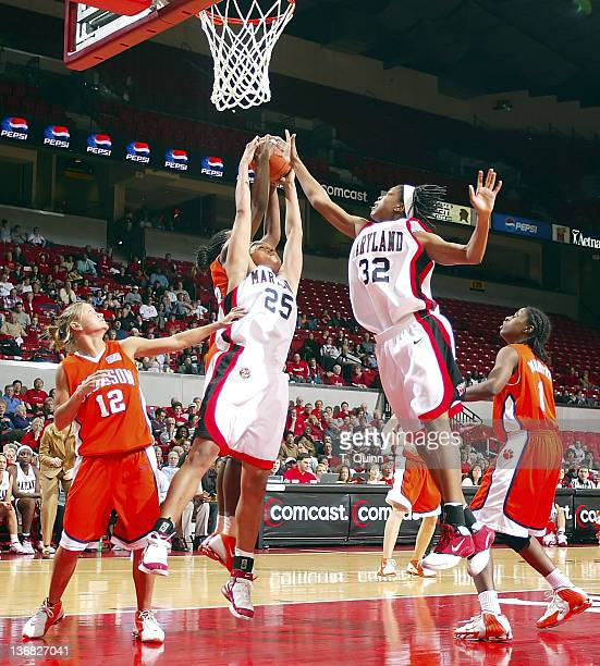 Maryland women defeated Clemson in a blow out 8963 at Comcast Center at the University of Maryland College Park on February 23 2006 Marissa Coleman...