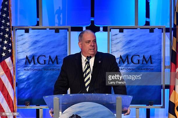 MarylandÊGovernorÊLarry Hogan speaks at the MGM National Harbor Grand Opening Celebration on December 8, 2016 in National Harbor, Maryland.