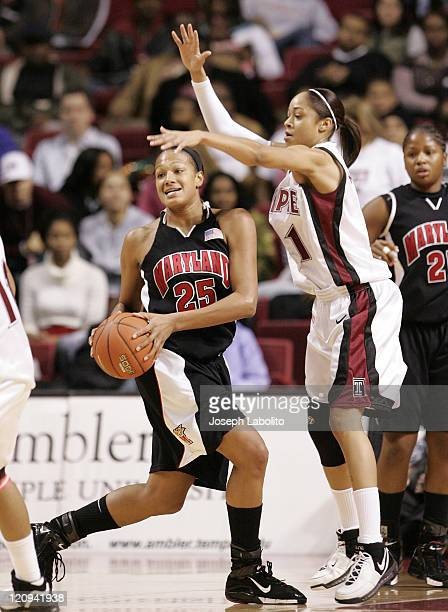 Maryland's Marissa Coelman had 16 points and 10 rebounds as the ranked Maryland Terrapins defeated the Temple Owls 77 to 66 at the Liacouras Center...