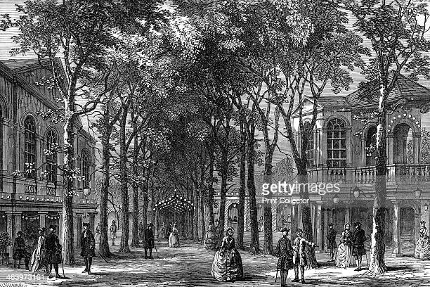Marylebone Gardens London 1780 From Old and New London a Narrative of its History its People and its Places volume IV by Edward Walford pulished by...