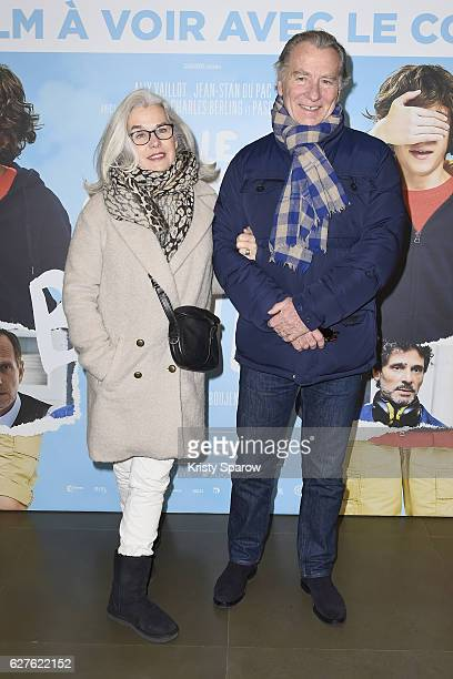 Maryline Leymergie and William Leymergie attend the 'Le Coeur En Braille' Paris Premiere at Cinema Gaumont Marignan on December 4 2016 in Paris France