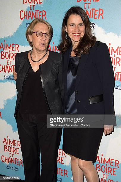 Marylise Lebranchu and Aurelie Filippetti attend the premiere of 'Aimer Boire et Chanter' in Paris