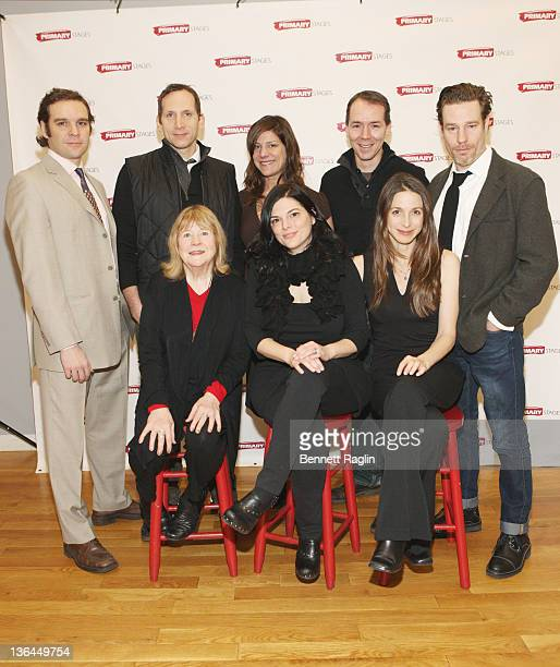 Marylouise Burke Kate Fodor Marin Hinkle Michael Bakkensen Stephan Kunken Elizabeth Rich Paul Niebanck and Ethan McSweeny attend the 'Rx' cast...