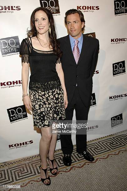 MaryLouise Parker and Andrew Shue during 'Do Something' BRICK Awards Sponsered by Kohl's at Capitale in New York City New York United States