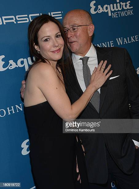 Mary-Louise Parker and David Granger attend Esquire 80th Anniversary And Esquire Network Launch Celebration at Highline Stages on September 17, 2013...