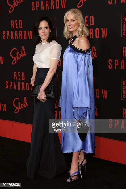 MaryLouise Parker and Joely Richardson attend the premiere of Red Sparrow at Alice Tully Hall at Lincoln Center on February 26 2018 in New York City
