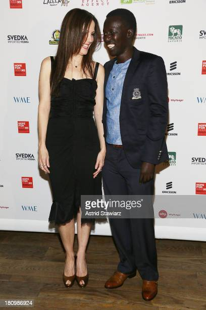 Mary-Louise Parker and Okello Sam attend The Inaugural Hope North Gala at City Winery on September 18, 2013 in New York City.