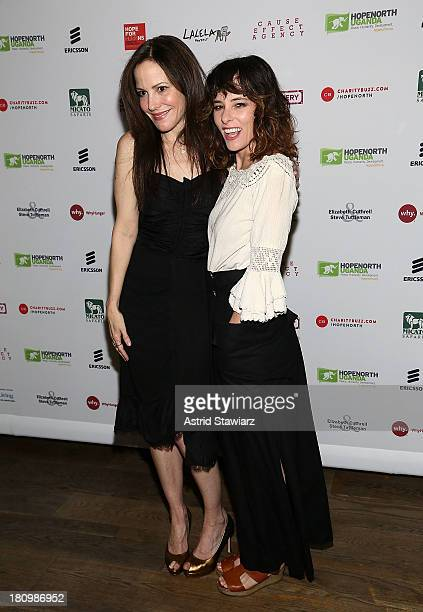 Mary-Louise Parker and Parker Posey attend The Inaugural Hope North Gala at City Winery on September 18, 2013 in New York City.