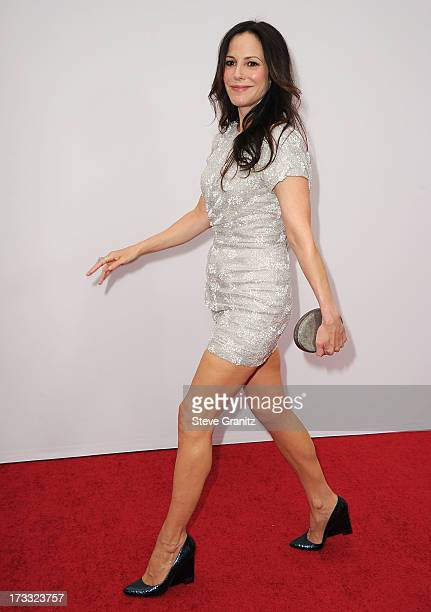 MaryLouise Parker arrives at the RED 2 Los Angeles Premiere at Westwood Village on July 11 2013 in Los Angeles California