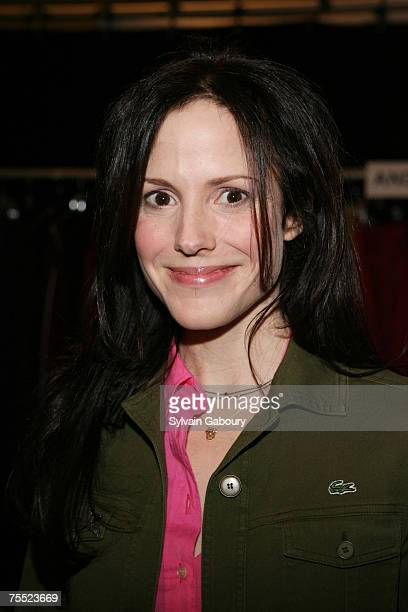 MaryLouise Parker at the Olympus Fashion Week Fall 2006 Lacoste Backstage at Bryant Park in New York New York