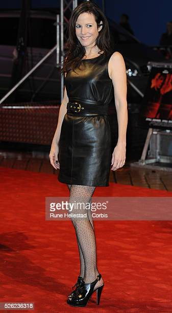 "Mary-Louise Parker attends the premiere of ""Red"" at Royal Festival Hall."