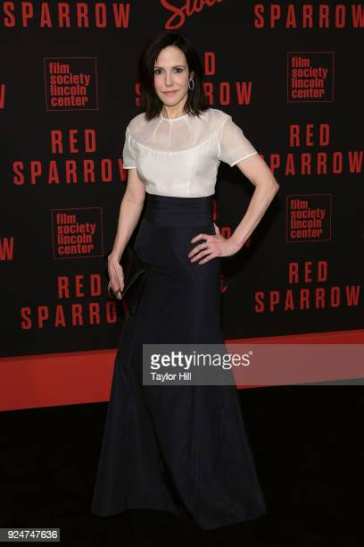 MaryLouise Parker attends the premiere of Red Sparrow at Alice Tully Hall at Lincoln Center on February 26 2018 in New York City
