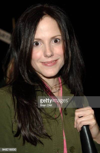 MaryLouise Parker backstage at the Lacoste fashion show held at Bryant Park's tents during the FallWinter 2006 Olympus Fashion Week New York City...