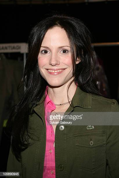 MaryLouise Parker during Olympus Fashion Week Fall 2006 Lacoste Backstage at Bryant Park in New York City New York United States