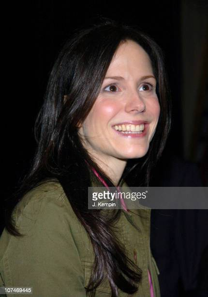MaryLouise Parker during Olympus Fashion Week Fall 2006 LaCoste Front Row and Backstage at Bryant Park in New York New York United States