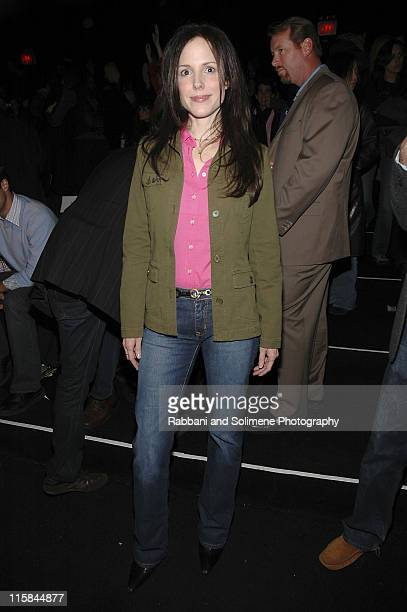 MaryLouise Parker during Olympus Fashion Week Fall 2006 Lacoste Front Row and Backstage at The Tent Bryant Park in New York City New York United...