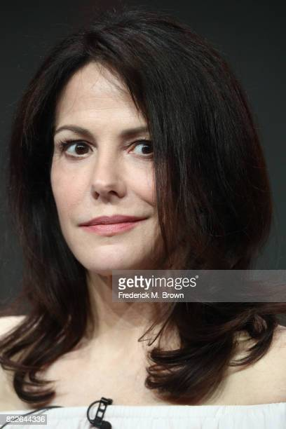 MaryLouise Parker of 'Mr Mercedes' speaks onstage during the ATT Audience Network portion of the 2017 Summer Television Critics Association Press...