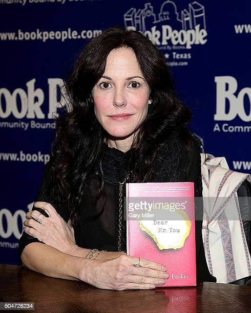 MaryLouise Parker reads from and signs copies of her new book Dear Mr You at Book People on January 12 2016 in Austin Texas