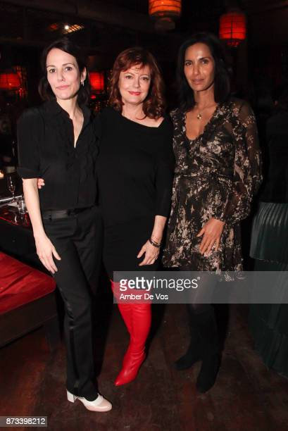 """Mary-Louise Parker, Susan Sarandon and Padma Lakshmi attend """"The Soufra Cookbook"""" Launch Party co-hosted by Rebelhouse Group and Susan Sarandon on..."""