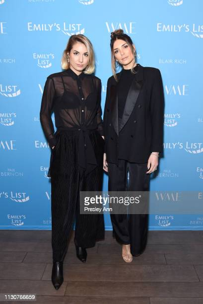 Marylouise Pels and Vanessa Giovacchini attend Raising Our Voices Supporting More Women in Hollywood Politics at Four Seasons Hotel Los Angeles in...