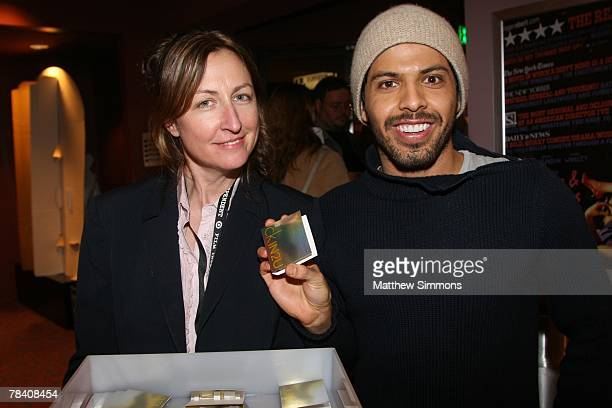 MaryLyn Chambers and Christhian Barron before a screening of the film Persepolis at the Laemmle Sunset 5 Theatres on December 11 2007 in Los Angeles...