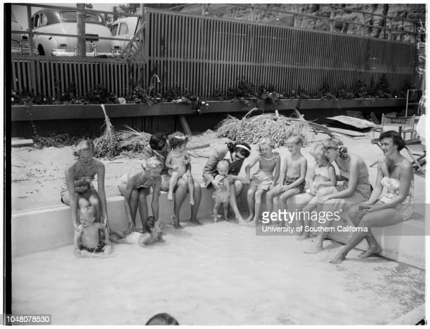 Marymount alumnaeJonathan Club Santa Monica 15 August 1951 Mrs Don UtterMrs Charles Dailey Miss Louise Schwennesen Tommy Utter 4 yearsKathy Dailey 2...