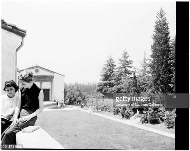 Marymount College seminar 12 May 1952 Mary Therese Cooper Los AngelesValerie PriceKathleen GudelmanVirginia O'HigginsMarilyn KiseskeyMargie...