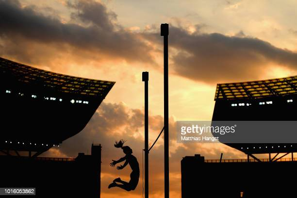 Maryna Kylypko of Ukraine competes in the Women's Pole Vault qualification during day one of the 24th European Athletics Championships at...