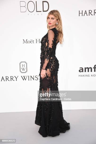 Maryna Linchuk arrives at the amfAR Gala Cannes 2017 at Hotel du CapEdenRoc on May 25 2017 in Cap d'Antibes France