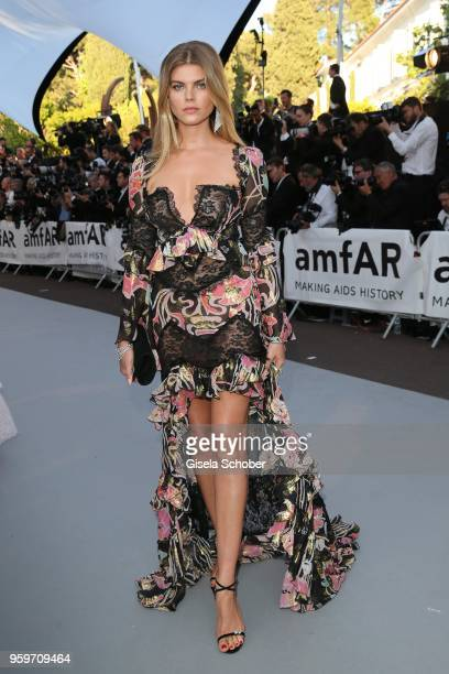 Maryna Linchuk arrives at the amfAR Gala Cannes 2018 at Hotel du CapEdenRoc on May 17 2018 in Cap d'Antibes France