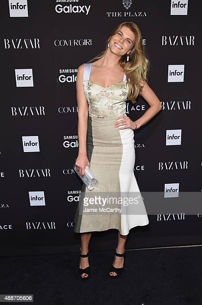 Maryna Linchuk attends the 2015 Harper's BAZAAR ICONS Event at The Plaza Hotel on September 16 2015 in New York City