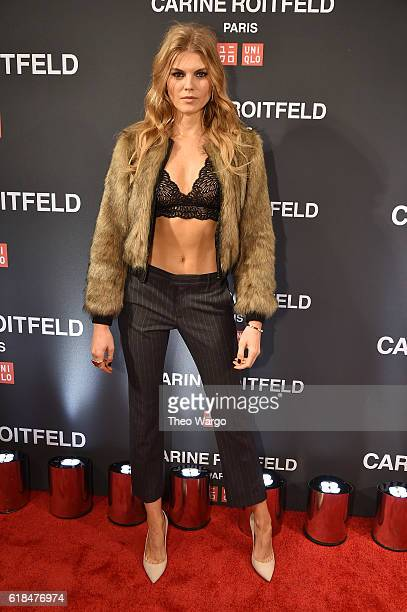 Maryna Linchuk attends the UNIQLO Fall/Winter 2016 Carine Roitfeld collection launch at UNIQLO on October 26 2016 in New York City