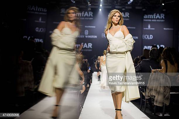 Maryna Linchuk walks the runway during dinner for the amfAR 22nd Annual Cinema Against AIDS Gala at Hotel du CapEdenRoc on May 21 2015 in Cap...