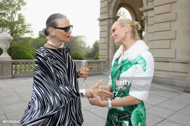 Maryse Gaspard and Elizabeth Lillien attend Pierre Cardin's 95th Birthday Celebration during the Pierre Cardin 70 Years of Innovation fashion show at...